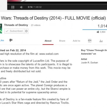 Star Wars: Threads of Destiny passes 1MM Views