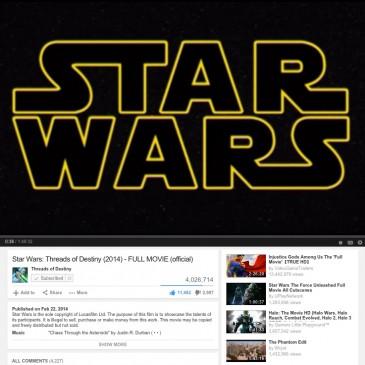 Star Wars: Threads of Destiny – passes 4+million Views on YouTube!