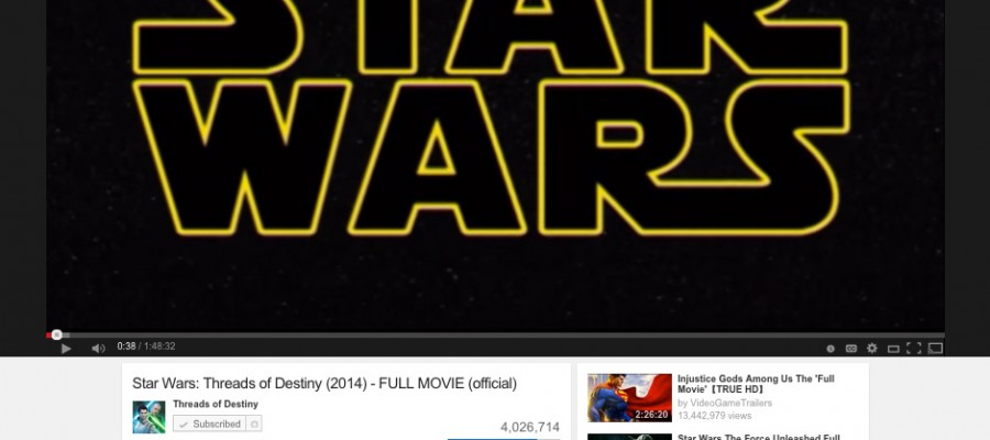 Star Wars: Threads of Destiny - 4 million views on YouTube